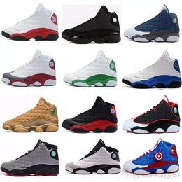 best sneakers 0f1a5 ee457 Hohe Qualität Männer Frauen 13 13s Basketball Schuhe gezüchtet schwarz weiß  True Red Hologramm er bekam Spiel Turnschuhe Sport Trainer US5-13 Drop  Shipping ...