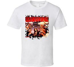 wide neck t shirts Canada - Scorpions World Wide Live T Shirt Mens 2018 fashion Brand T Shirt O-Neck 100%cotton T-Shirt Tops Tee custom Environmental printed Tshirt