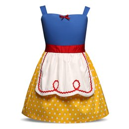 Wholesale Princess Party Themes - Summer Kids Dresses For Girl Party Wear Clothes Princess Girl Birthday Theme Dress Up Halloween Costume Fancy Children Clothing