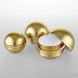 2019 tappi a vite in vetro ambrato da 15 ml 5g 30g 50g Cream Jar sferica palla rotonda Jar ombretto scatola rossetto scatola di imballaggio di plastica cosmetica contenitore polvere vaso vuoto GBN-090