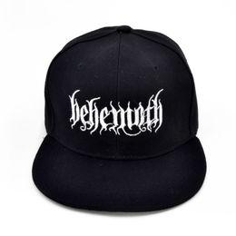 141400eff3a84 Behemoth Death Punk Rock Men s embroidery Baseball cap Poland s famous  black metal band cap