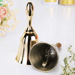 Wholesale Art Service - Creative Metal Hand Bells Restaurant Service Reminding Table Bell Wedding Birthday Party Decoration Arts And Crafts 16mn C R