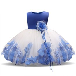 Wholesale bridal clothes - Kids Clothing Wedding Bridal Tulle Teen Girl Formal Party Dress Flower Girl Costume Child's Wear Tutu Birthday Dresses For Girl 1 2 Years
