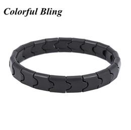 Joyas de turmalina negra online-Joyería de la salud de la moda para las pulseras turmalina negra pulseras hombre y la mujer Piedras naturales de muñeca