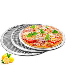 9 12 pouces Pizza Écran En Aluminium Pizza Pan Rond Chef Chef Écran De Cuisson De Qualité Commerciale Micro-ondes Crispers ? partir de fabricateur