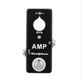 Wholesale Guitar Amplifier Effects - Mosky Amp Headphone Amplifier MINI Guitar Effect Pedal MXR MICROAMP Style