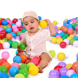 Wholesale ocean stock - Baby Ocean Ball Pits Toys Eco-friendly Plastic Water Pool Ocean Wave Balls Kids Outdoor Funny Sports Toys