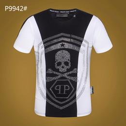 cf3bba1446c T-shirt tête de mort diamant t-shirt en coton à la mode célèbre conception  respirante casual t col rond taille m-3xl Limited Vêtements Hommes peu  coûteux ...