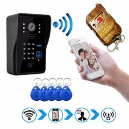 intercomunicador androide Rebajas Nueva Caliente HD Wifi Timbre Cámara Inalámbrica Video Intercom Teléfono Control IP Puerta Teléfono inalámbrico Puerta campana IOS Android