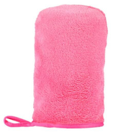 Wholesale Wholesale Makeup Towels - NEW ARRIVAL Microfiber MakeUp Removal Facial Cloth Gloves Towel Beauty Skin face Washcloth New FREE SHIPPING