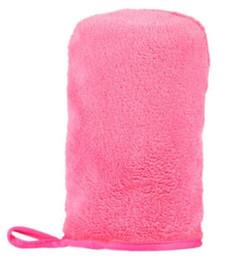 2019 nouveaux gants de peau NOUVELLE ARRIVÉE Microfibre Maquillage Enlèvement Du Visage Gants Serviette Beauté Peau Visage débarbouillette Nouveauté LIVRAISON GRATUITE nouveaux gants de peau pas cher