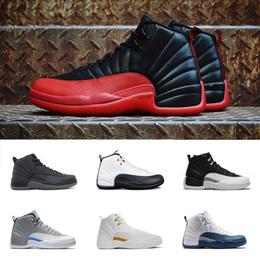 AIR Mens Scarpe da basket 12 12s French Blue White TAXI Playoff Black Flu Game Cherry 12s XII Men Sneakers Bordeaux taglia 7-13 da