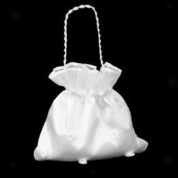 Wholesale wedding handbag white - Bridal Satin Floral Drawstring Bag Wedding Supplies Party Favor Dolly Candy Flower Bags Bridesmaid Handbag NNA365