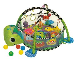 Jouets de clôture en Ligne-3in1 bébé Activité Gym et 30 pcs Ball Pit Infant croissance-avec-moi parc d'enfant pépinière Éducatif Tapis de jeu pour nouveau-né Barrière de sécurité jouet tente