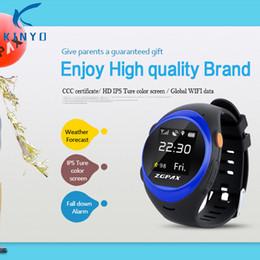 2019 gps lokalisieren Neue Kinyo Smartwatch Telefon Unterstützung SOS GPS Anti Fallen Alarm Lokalisieren Sie Track 2G Smart Uhr 400MAH für Android und iOS Telefone rabatt gps lokalisieren