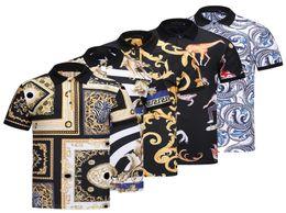 Wholesale Camisa Casual Slim Fit - 2018 Medusa Fashion men's polo shirt Short Sleeve animal embroidery camisa polo slim fit top For Men polo tee printing poloshirt Asian size
