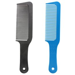 Wholesale professional hairdressing combs - Pro 1 Pcs Carbon Antistatic 3D Hairdressing Clipper Comb Anti Slide Handle Barber Haircut Comb Stick Hair For Professional Use
