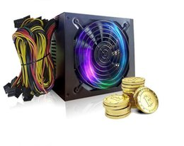 Wholesale power supply gold - 2018-New 1800W 170-240V ATX Gold Mining Power Supply SATA IDE 6 GPU for ETH Ethereum EM88