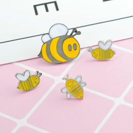 7d4133f5c9a Honey Bee family brooch pin Cute cartoon brooches Bee badges Hard enamel  pins Deniam jacket backpack jewelry Gift for kids