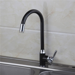 Wholesale Bathroom Ceramic - Xueqin LED 3 Color Changing Basin Bathroom Sink Faucet Deck Mount Black Painting Single Handle Kitchen Black+Silver Hot Sale