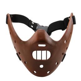 2019 häkelhut rentier Großhandels-neues Schweigen der Lämmer Hannibal Lecter Harz-Masken-Handwerks-Halloween-Geschenk