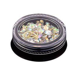 Canada 2 Boîte 3D Bijoux Ongles Coloré Mixte Acrylique Astuce Diamant Plat Jewel Pierre Ongles Strass Manucure DIY Art Décoration (Bi supplier acrylic nails stones Offre