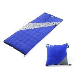 Wholesale duck down sleeping bags - 200*78cm Sleeping Bag Comfortable Goose Down Sleeping Bag Camping Multifunction Travel White Duck Down