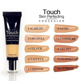 Wholesale Normal Water - Mineral Touch Skin Perfecting 10 Colors Concealer Makeup Liquid Foundation fond de teint 10ml BB Cream