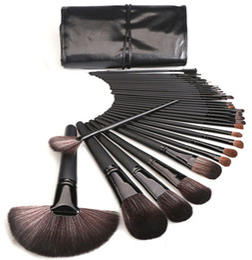 Cavalo da escova da composição on-line-Novos pincéis de maquiagem ferramentas de maquiagem 32 pcs conjuntos de escova profissional cavalo cabelo preto de alta qualidade dhl grátis + presente
