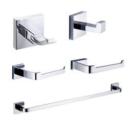 Wholesale contemporary bathroom sets - Bathroom Accessory Sets , 5pcs , Contemporary Chrome Wall Mounted