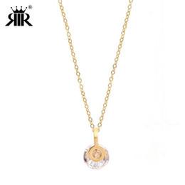 e43eb6a4bbc5 RIR Fashion Gargantilla Collar de cristal para mujer Accesorios de acero  inoxidable de mejor calidad para fiesta y noche