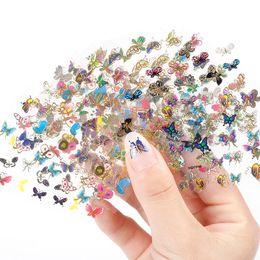 arte de uñas 3d animales Rebajas Blueness 24 hoja modelo de mariposa de belleza estampado en gel manicura pegatinas para uñas Diy Animal Design 3D Nail Art Tips calcomanías