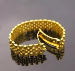 Large Montre Chaîne Imperial Couronne Bracelets Bracelets Pour Hommes En Acier Inoxydable 316L 18K Jaune Rose Plaqué Or De Luxe Designer De Mode Bijoux ? partir de fabricateur