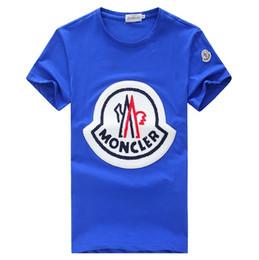 2018 Luxury Brand M design Camisetas de manga corta para hombre 5039B Francia Moda estilo casual Otoño invierno algodón Polos tops Camisetas con cuello redondo desde fabricantes