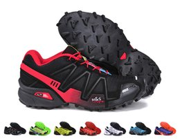 Wholesale Lime Green Blue - Wholesale Cheap Speedcross 3 Running Shoes Men Outdoor Cross-country Racing Shoes Prevent Slippery Mountain Hiking Shoes