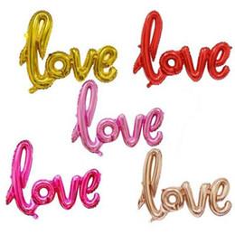 LOVE Letter Foil Balloon Anniversary San Valentino Decorazione festa nuziale Doccia Bachelorette Newlywed Romantico Oro rosa da