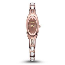 Wholesale Tungsten Pin - DOM watches New Women sapphire mirror watch fashion row wear-resisting tungsten Watch Bracelet Watch W-733 Free shipping