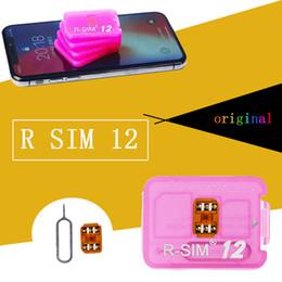Wholesale Ios R Sim - 150PCS R sim 12 rsim12 rsim sim12 ios 11.3 ICCID Unlocking for iPhoneX,iphone 8,8PLUS 7,7plus 4G
