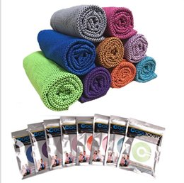 Argentina 10 colores Summer Cool Towel New Ice Towel Cold Enduring Running Jogging Gym Chilly Pad Instant Cooling Outdoor Sports Towel Envío gratis cheap cooling pads for summer Suministro