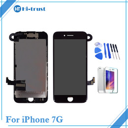 Wholesale Full Bar Set - For iPhone 7 7G LCD Display Touch Screen Digitizer Full Set Assembly Replacement & Front Camera &Free Shipping