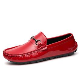 Wholesale Lazy Men - 2018 Men Slip-On Leisure Doug Shoes Men's Driving Shoes Mens Leather Casual Loafers Fashion Men Lazy Shoes