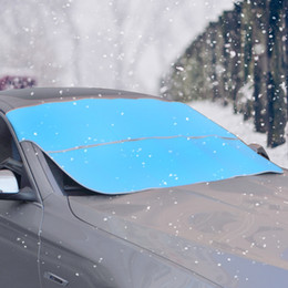 Wholesale Used Cars Autos - Car Windshield Cover UV Block Sunshade Auto Vehicle Snow Frost Proof Foldable Sun Visor Universal Car Dual Side Use 78.74 *37.4 Inch