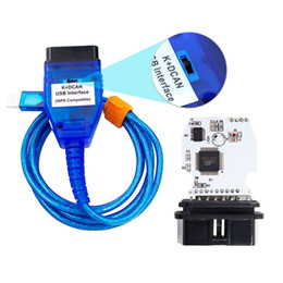 Wholesale bmw k can - K+CAN USB Interface for BMW INPA K+CAN Ediabas with Switch FT232RQ Chip INPA USB Cable Green PC Board
