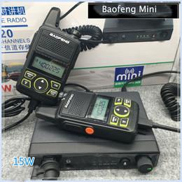 2019 stations de radios BF T1 Voiture émetteur récepteur 15w puissance UHF 400-470mhz radio de voiture mobile avec 2 pcs portatif talkie-walkie station de radio SOS promotion stations de radios