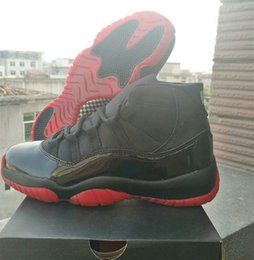 Wholesale neoprene back - Wholesale New 11 XI BACK black RED men basketball shoes sports outdoor 11S trainers sneakers 2018 with box size 7-13