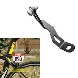 Soporte de orificio online-Bicicleta de carretera Carrera de triatlón Bicicleta Número de placa Soporte de placa Soporte de tarjeta Soporte para montaje en la pinza Agujero de freno