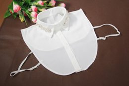 Wholesale Cotton Choker Necklaces - whole sale2017 newest flower bead cotton detachable flower butterfly bead half saving collar peter pan shirt collar