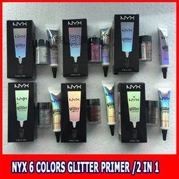 Wholesale Body Setting - High Quality NYX face and body glitter with primer set glitter primer Foundation Primer for eyeshadow fllash powder cosmetics makeup