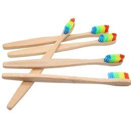 Canada La brosse en bambou de nouvelle arrivée de brosse à dents colorée en nylon doux / nettoie les soies de fil brosses à dents pour l'hôtel à la maison pour des adultes et des enfants supplier hotel wire Offre