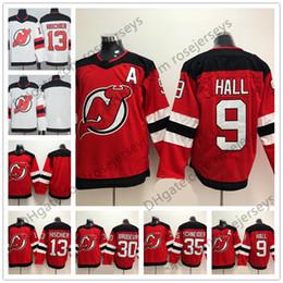 Wholesale Hockey 13 - New Jersey Devils #13 Nico Hischier 9 Taylor Hall 30 Martin Brodeur 35 Schneider Blank Red White Mens Womens Youth Kids 2018 Hockey
